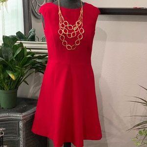 Chaps Cap Sleeved A-line Dress- W4